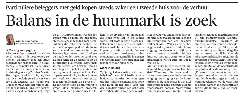 123Wonen Alkmaar verleent expertise over de huurmarkt in de regio