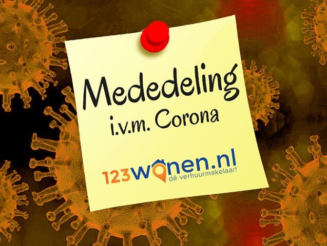 123Wonen policy regarding the Corona-virus