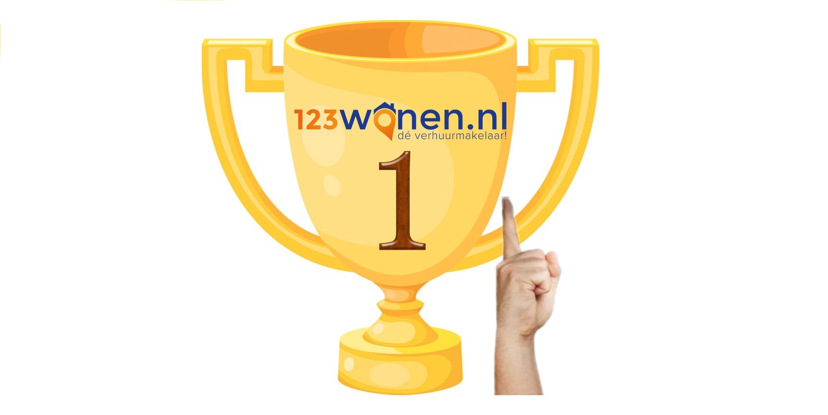 123Wonen uitgeroepen tot nummer 1 verhuurmakelaar van Nederland